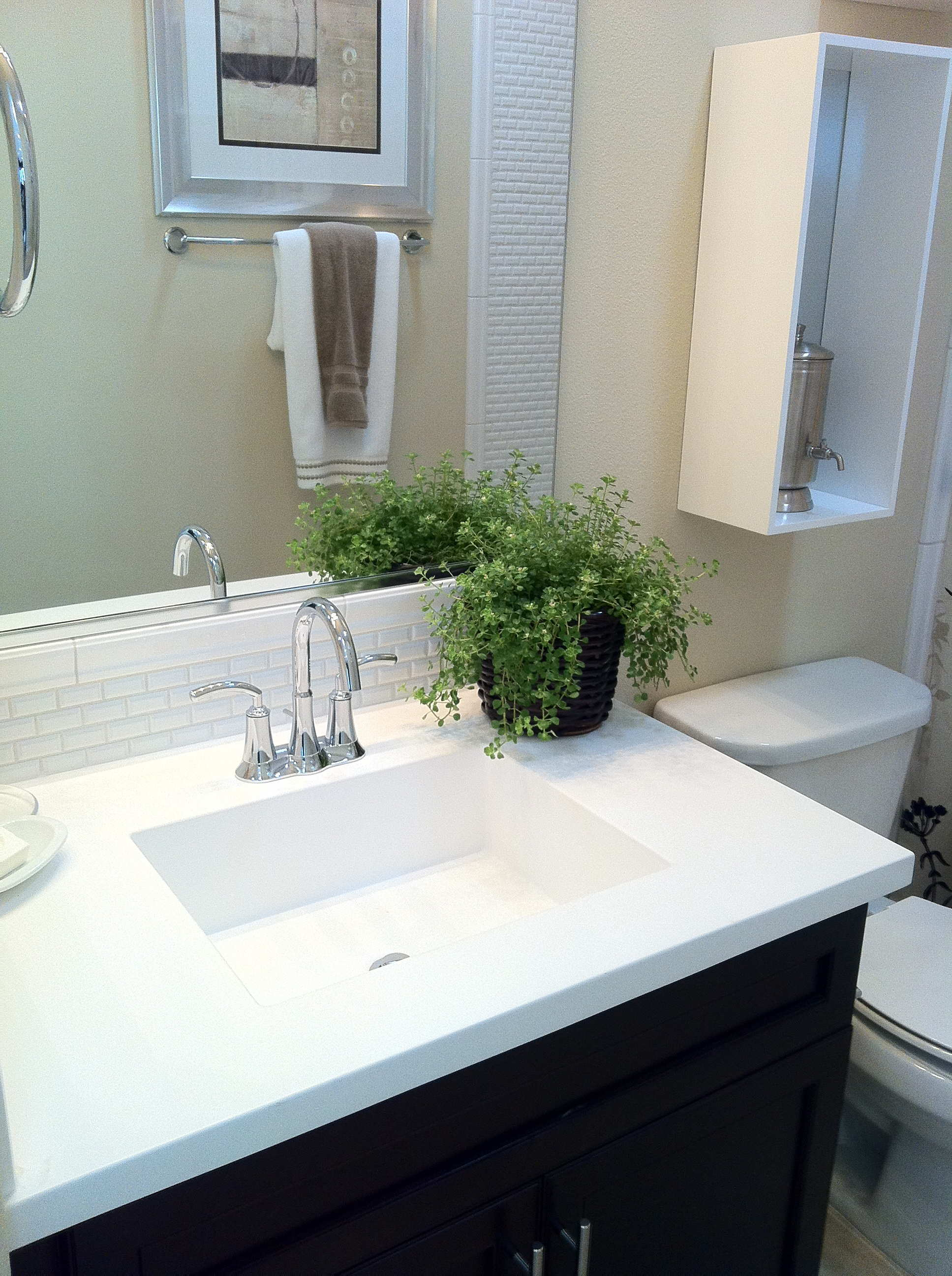 Marble Sinks Bathroom : ... Cultured Marble Countertop with ?True? Rectangular Molded-in Sink