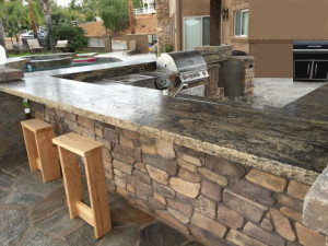 Outdoor BBQ Granite Countertop