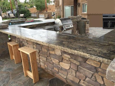 Outdoor BBQ Granite Countertop